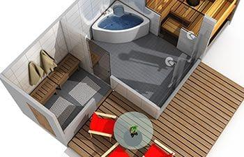 SunSauna kotikylpyla saunan suunnittelu
